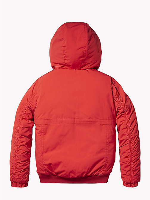 TOMMY HILFIGER Padded Hooded Jacket - APPLE RED - TOMMY HILFIGER Boys - detail image 1