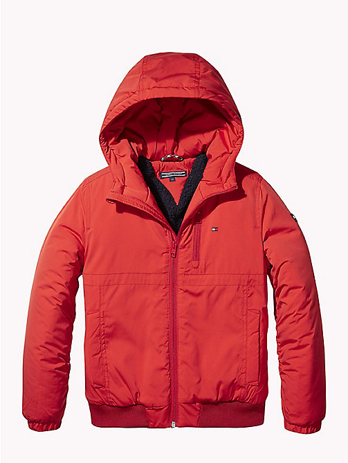 TOMMY HILFIGER Padded Hooded Jacket - APPLE RED - TOMMY HILFIGER Boys - main image