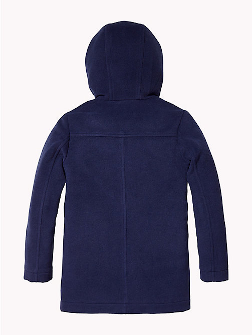TOMMY HILFIGER Hooded Duffle Coat - BLACK IRIS - TOMMY HILFIGER Boys - detail image 1