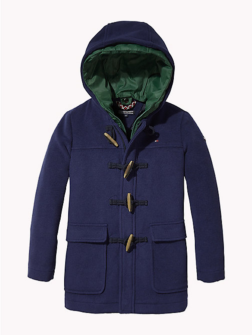TOMMY HILFIGER Hooded Duffle Coat - BLACK IRIS - TOMMY HILFIGER Boys - main image