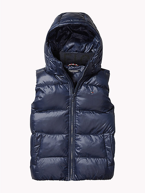 TOMMY HILFIGER Padded Hooded Flag Gilet - BLACK IRIS - TOMMY HILFIGER Boys - detail image 1