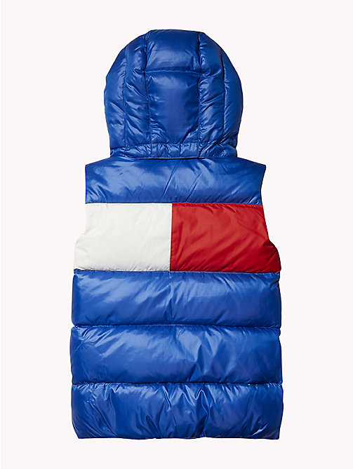 TOMMY HILFIGER Padded Hooded Flag Gilet - OLYMPIAN BLUE - TOMMY HILFIGER Boys - detail image 1