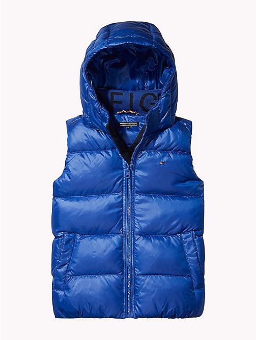 TOMMY HILFIGER Padded Hooded Flag Gilet - OLYMPIAN BLUE - TOMMY HILFIGER Boys - main image