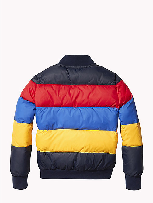TOMMY HILFIGER Reversible Colour-Blocked Puffer Jacket - BLACK IRIS - TOMMY HILFIGER Boys - detail image 1
