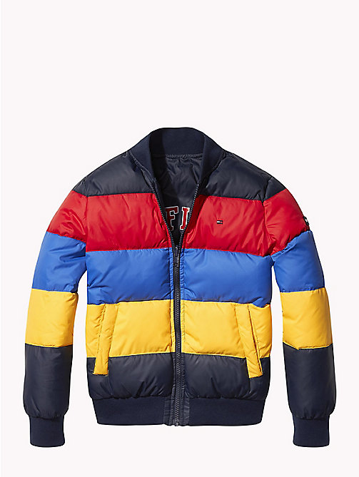 TOMMY HILFIGER Reversible Colour-Blocked Puffer Jacket - BLACK IRIS - TOMMY HILFIGER Boys - main image