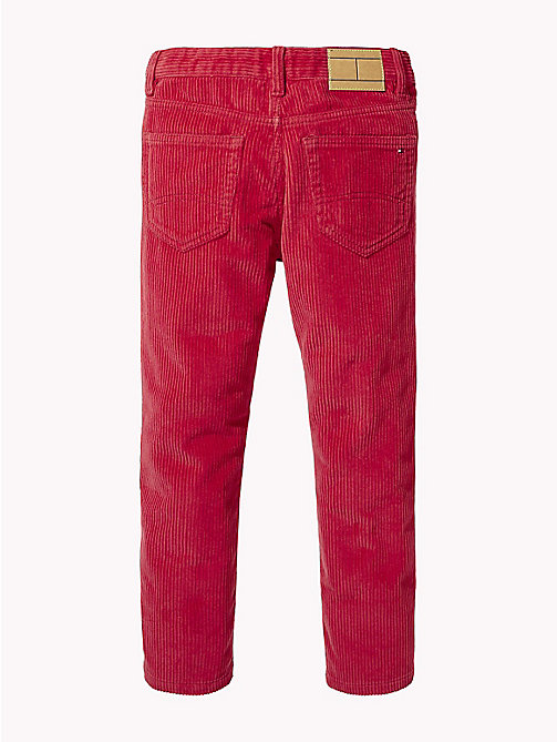 TOMMY HILFIGER Relaxed Cropped Corduroy Trousers - SCARLET SAGE - TOMMY HILFIGER Boys - detail image 1