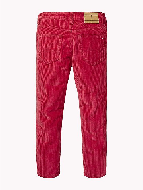 TOMMY HILFIGER Pantaloni cropped in velluto a coste - SCARLET SAGE - TOMMY HILFIGER Pantaloni - dettaglio immagine 1