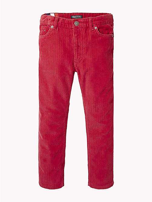 TOMMY HILFIGER Relaxed Cropped Corduroy Trousers - SCARLET SAGE - TOMMY HILFIGER Trousers & Shorts - main image