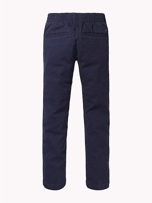 TOMMY HILFIGER Stretch Cord Trousers - BLACK IRIS - TOMMY HILFIGER Boys - detail image 1