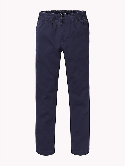TOMMY HILFIGER Stretch Cord Trousers - BLACK IRIS - TOMMY HILFIGER Boys - main image