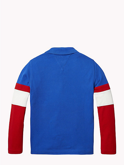 TOMMY HILFIGER 1985 Logo Polo Shirt - OLYMPIAN BLUE/MULTI - TOMMY HILFIGER T-shirts & Polos - detail image 1