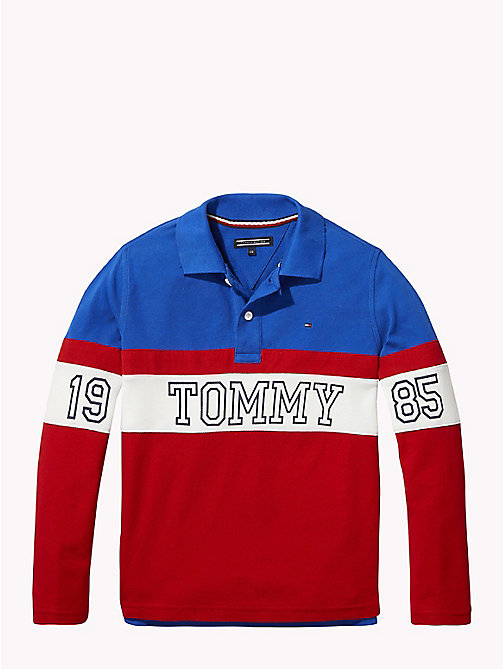 TOMMY HILFIGER 1985 Logo Polo Shirt - OLYMPIAN BLUE/MULTI - TOMMY HILFIGER T-shirts & Polos - main image