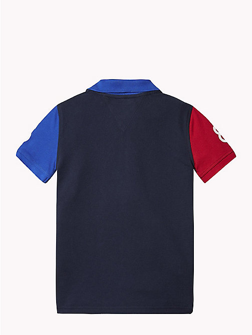 TOMMY HILFIGER COLOR BLOCK POLO S/S - BLACK IRIS MULTI - TOMMY HILFIGER T-shirts & Poloshirts - main image 1