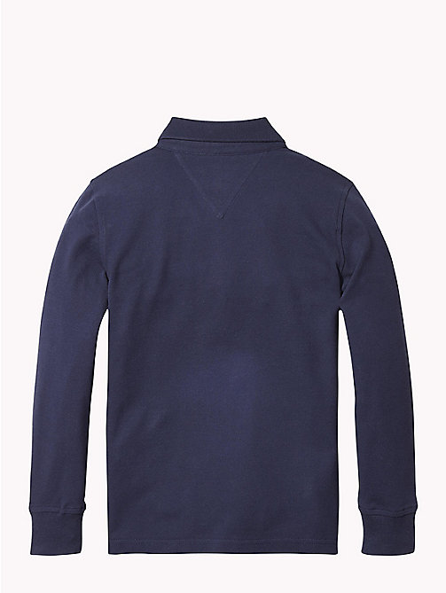 TOMMY HILFIGER Organic Cotton Long Sleeve Polo - BLACK IRIS - TOMMY HILFIGER T-shirts & Polos - detail image 1