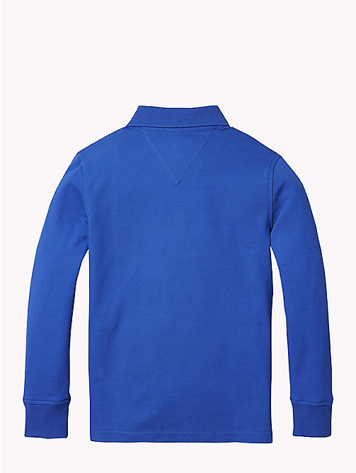 TOMMY HILFIGER Organic Cotton Long Sleeve Polo - OLYMPIAN BLUE - TOMMY HILFIGER T-shirts & Polos - detail image 1