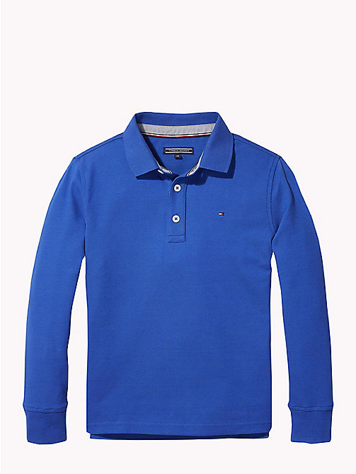 TOMMY HILFIGER Organic Cotton Long Sleeve Polo - OLYMPIAN BLUE - TOMMY HILFIGER T-shirts & Polos - main image