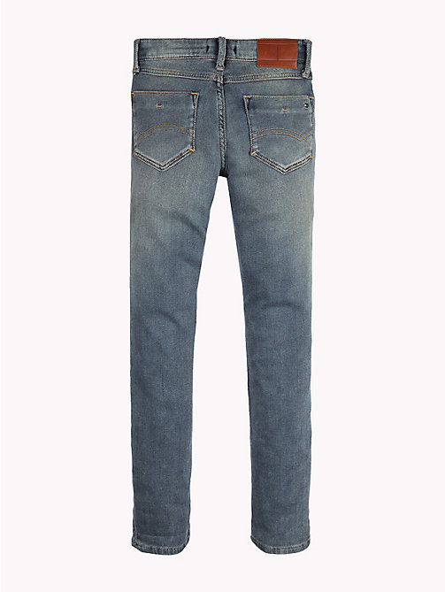 TOMMY HILFIGER Slim fit jeans met distressing - VINTAGE BRUSH TWILL STRETCH - TOMMY HILFIGER Jongens - detail image 1
