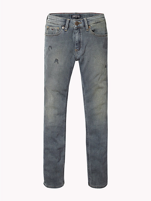 TOMMY HILFIGER Distressed Slim Fit Jeans - VINTAGE BRUSH TWILL STRETCH - TOMMY HILFIGER Jeans - main image