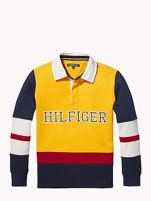 TOMMY HILFIGER Tommy Hilfiger Rugby-Shirt - SPECTRA YELLOW / MULTI - TOMMY HILFIGER T-shirts & Poloshirts - main image