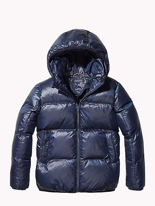 TOMMY HILFIGER Padded Flag Jacket - BLACK IRIS - TOMMY HILFIGER Boys - main image