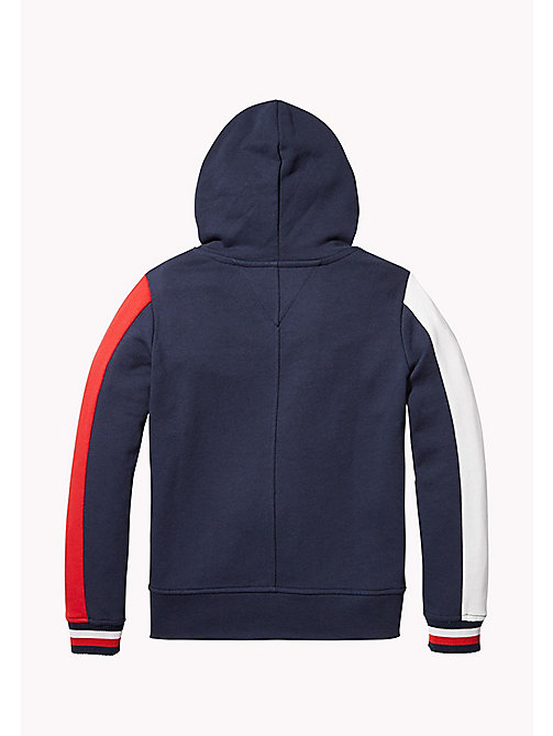 TOMMY HILFIGER SPORTS COLOR BLOCK HOODIE - SKY CAPTAIN - TOMMY HILFIGER Sports Capsule - detail image 1