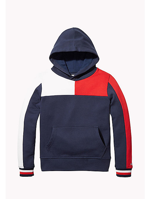 TOMMY HILFIGER SPORTS COLOR BLOCK HOODIE - SKY CAPTAIN - TOMMY HILFIGER Sweatshirts & Hoodies - main image