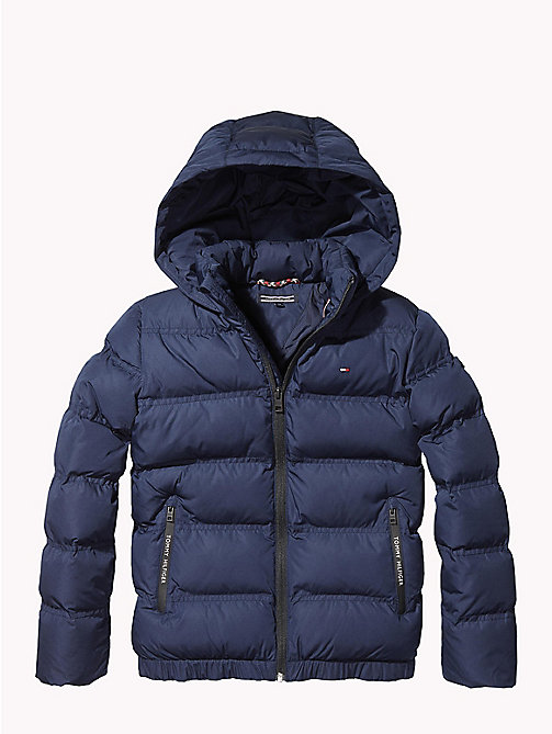 TOMMY HILFIGER Hooded Puffer Jacket - BLACK IRIS - TOMMY HILFIGER Coats & Jackets - main image