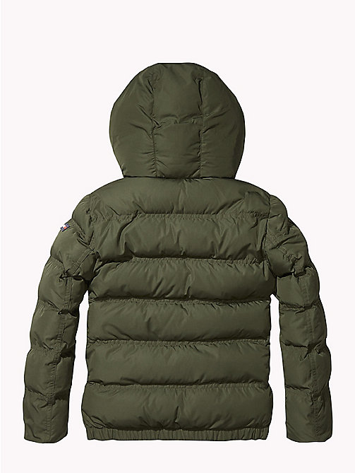 TOMMY HILFIGER Hooded Puffer Jacket - FOREST NIGHT - TOMMY HILFIGER Coats & Jackets - detail image 1
