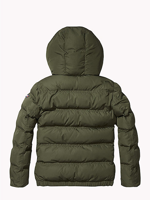 TOMMY HILFIGER Hooded Puffer Jacket - FOREST NIGHT - TOMMY HILFIGER Boys - detail image 1