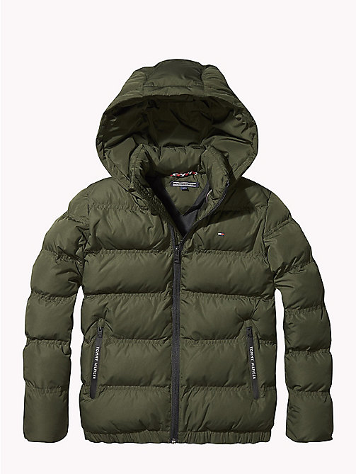 TOMMY HILFIGER Hooded Puffer Jacket - FOREST NIGHT - TOMMY HILFIGER Coats & Jackets - main image