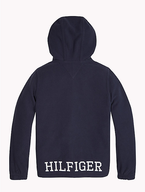 TOMMY HILFIGER Polar Fleece Zip Hoody - BLACK IRIS - TOMMY HILFIGER Boys - detail image 1