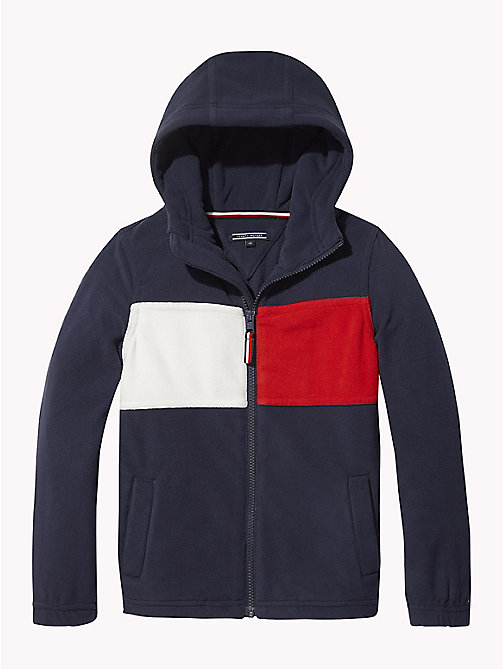 TOMMY HILFIGER Polar Fleece Zip Hoody - BLACK IRIS - TOMMY HILFIGER Sweatshirts & Hoodies - main image