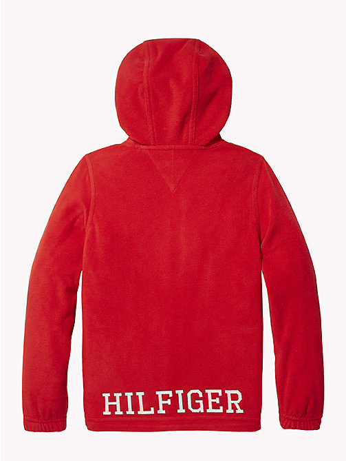 TOMMY HILFIGER Polar Fleece Zip Hoody - APPLE RED - TOMMY HILFIGER Sweatshirts & Hoodies - detail image 1