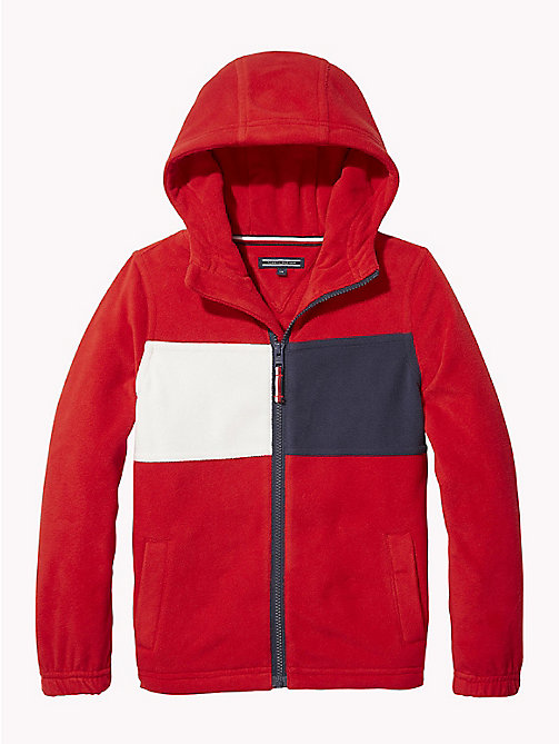 TOMMY HILFIGER Fleece hoodie met rits - APPLE RED - TOMMY HILFIGER Sweatshirts & Hoodies - main image