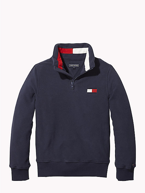 TOMMY HILFIGER Fleece sweatshirt - BLACK IRIS - TOMMY HILFIGER Sweatshirts & Hoodies - main image