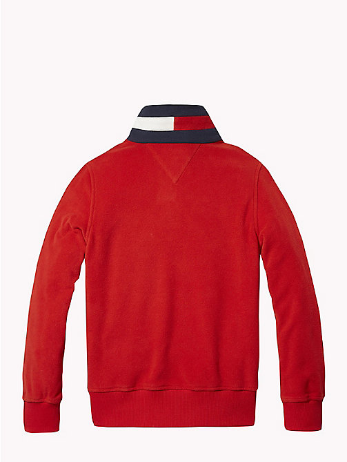 TOMMY HILFIGER Fleece sweatshirt - APPLE RED - TOMMY HILFIGER Sweatshirts & Hoodies - detail image 1