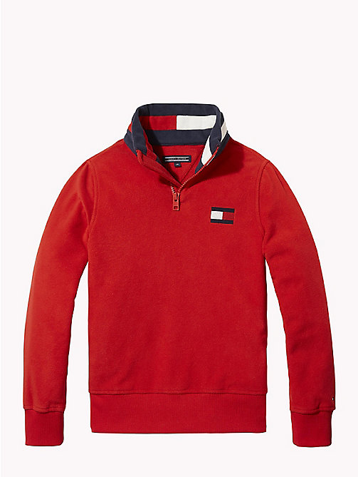 TOMMY HILFIGER Polar Fleece Sweatshirt - APPLE RED - TOMMY HILFIGER Sweatshirts & Hoodies - main image