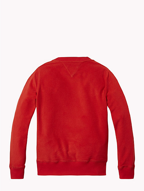 TOMMY HILFIGER Polar Fleece Sweatshirt - APPLE RED - TOMMY HILFIGER Sweatshirts & Hoodies - detail image 1