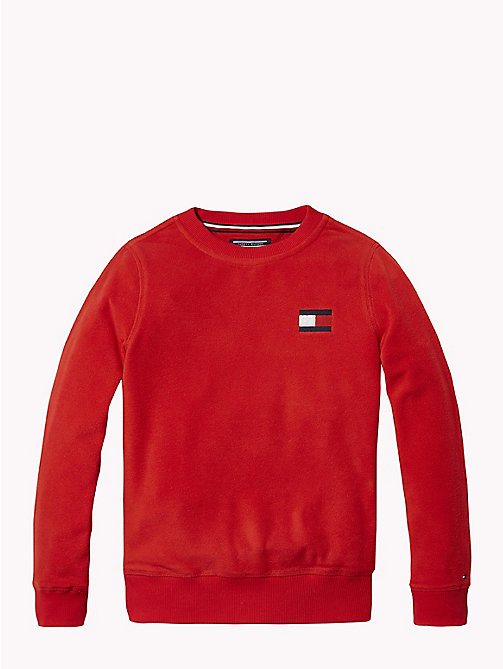 TOMMY HILFIGER Fleece sweatshirt - APPLE RED - TOMMY HILFIGER Sweatshirts & Hoodies - main image