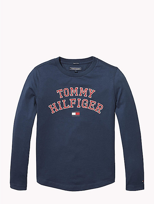 TOMMY HILFIGER T-shirt con logo Tommy Hilfiger - BLACK IRIS - TOMMY HILFIGER T-shirts & Polo - immagine principale