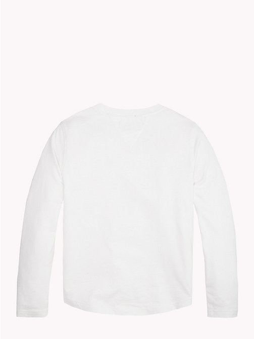 TOMMY HILFIGER Tommy Hilfiger Logo Sweatshirt - BRIGHT WHITE - TOMMY HILFIGER T-shirts & Polos - detail image 1