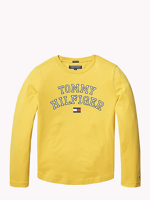 TOMMY HILFIGER Tommy Hilfiger Logo Sweatshirt - SPECTRA YELLOW - TOMMY HILFIGER T-shirts & Polos - main image