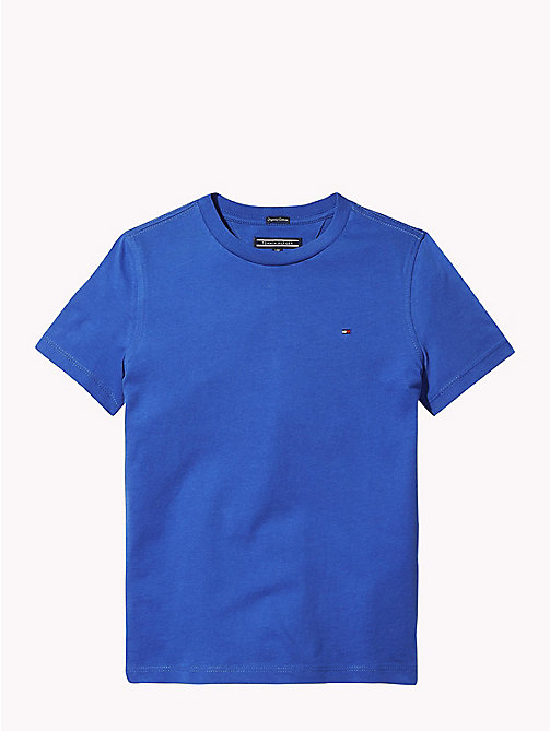 TOMMY HILFIGER Organic Cotton T-Shirt - OLYMPIAN BLUE - TOMMY HILFIGER T-shirts & Polos - main image