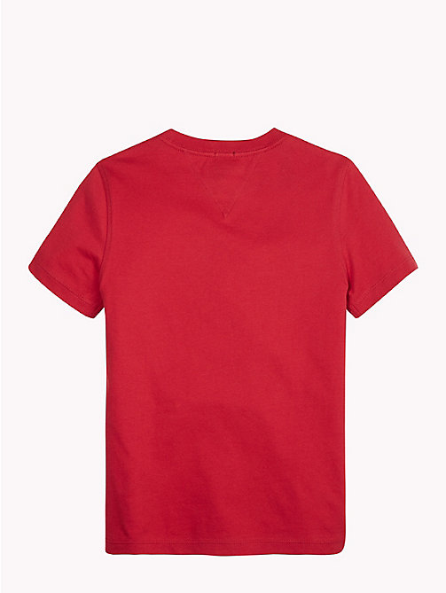 TOMMY HILFIGER Organic Cotton T-Shirt - APPLE RED - TOMMY HILFIGER T-shirts & Polos - detail image 1