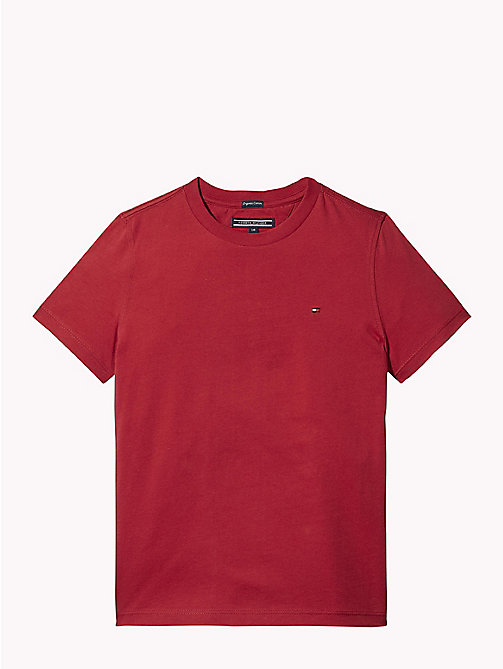 TOMMY HILFIGER Organic Cotton T-Shirt - APPLE RED - TOMMY HILFIGER T-shirts & Polos - main image