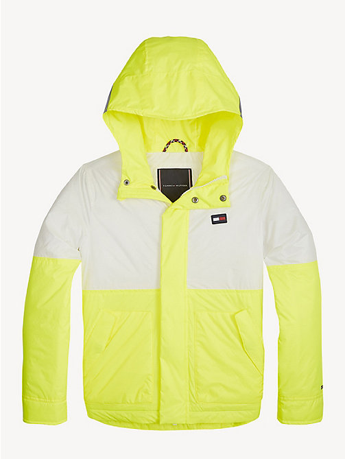 TOMMY HILFIGER Neon Hooded Jacket - SAFETY YELLOW - TOMMY HILFIGER Coats & Jackets - main image
