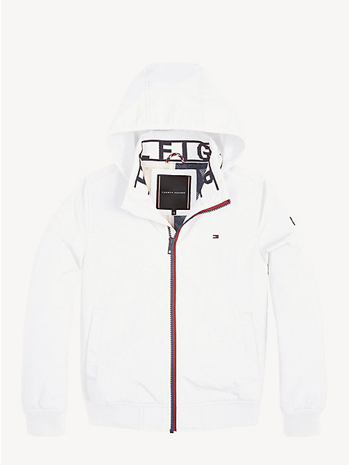 TOMMY HILFIGER Nylon Bomber Jacket - BRIGHT WHITE - TOMMY HILFIGER Coats & Jackets - detail image 1