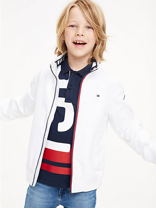 TOMMY HILFIGER Nylon Bomber Jacket - BRIGHT WHITE - TOMMY HILFIGER Coats & Jackets - main image