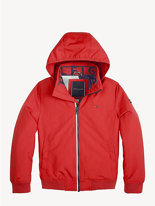 TOMMY HILFIGER Nylon Bomber Jacket - LYCHEE - TOMMY HILFIGER Coats & Jackets - detail image 1