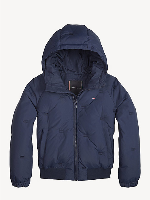TOMMY HILFIGER Flag Down Jacket - BLACK IRIS - TOMMY HILFIGER Coats & Jackets - main image